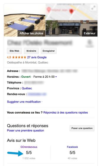 avis sur recherches Google