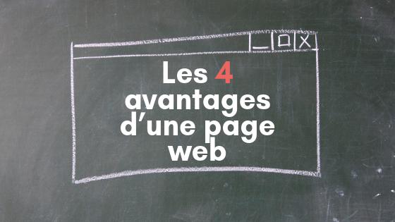 Les 4 avantages d'une page web